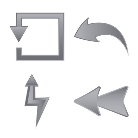 Vector design of element and arrow icon. Collection of element and direction vector icon for stock. 일러스트