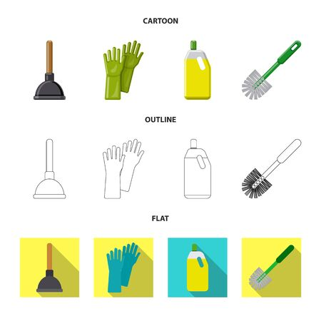 Vector design of cleaning and service symbol. Collection of cleaning and household vector icon for stock. Ilustrace