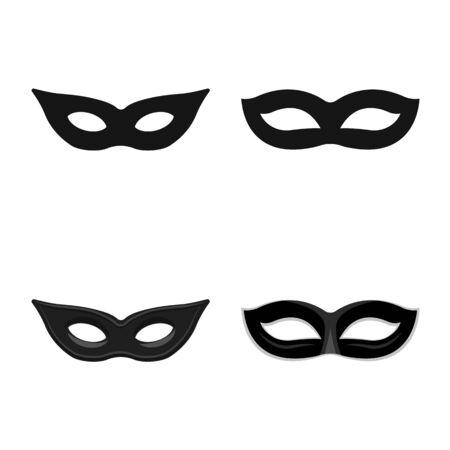 Vector design of luxury and celebration icon. Set of luxury and hide vector icon for stock. Иллюстрация