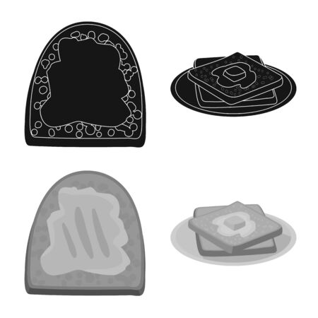 Isolated object of creamy and product. Collection of creamy and farm vector icon for stock. 写真素材 - 129856744