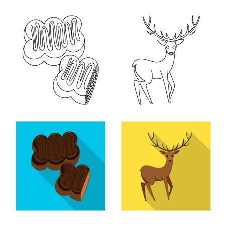 Vector illustration of traditional and tour icon. Set of traditional and landmarks vector icon for stock.
