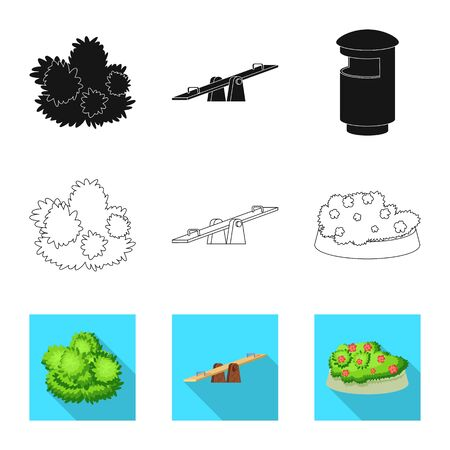 Vector illustration of urban and street. Set of urban and relaxation vector icon for stock.