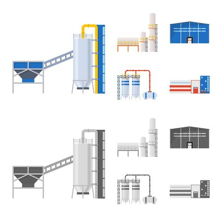 Isolated object of production and structure sign. Set of production and technology vector icon for stock.