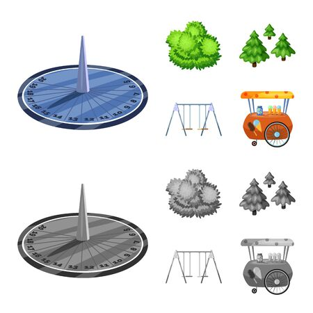 Isolated object of urban and street icon. Collection of urban and relaxation vector icon for stock. Ilustração