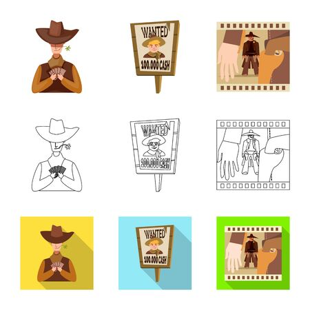 Isolated object of texas and history icon. Collection of texas and culture vector icon for stock. 矢量图像