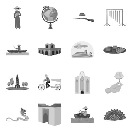 Vector design of travel and country. Collection of travel and landmark vector icon for stock.  イラスト・ベクター素材