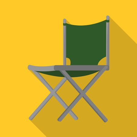 Vector design of chair and folding sign. Set of chair and camp stock symbol for web.