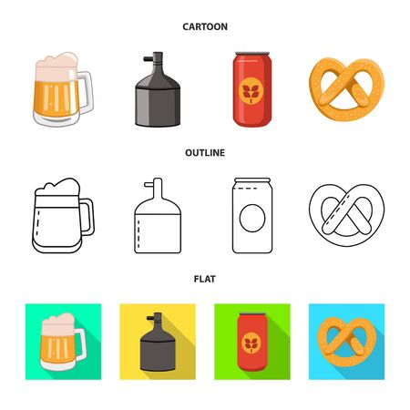 Vector illustration of brewery and brewing. Collection of brewery and ingredient vector icon for stock.