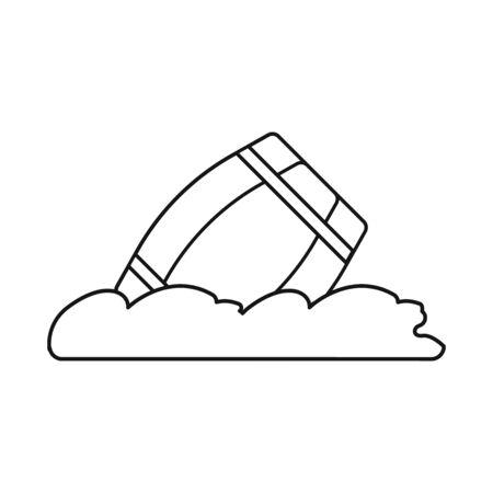 Vector illustration of wave and barrel. Collection of wave and water stock symbol for web. Ilustração