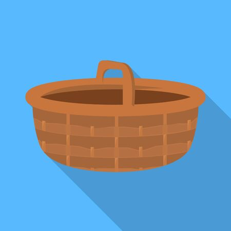 Vector design of basket and wicker icon. Collection of basket and wood stock symbol for web.