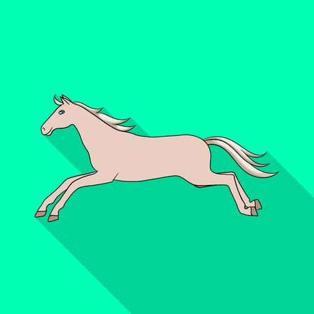 Isolated object of horse and wildlife sign. Collection of horse and horseback stock vector illustration.
