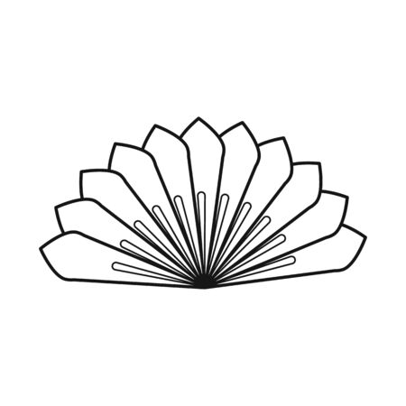 Isolated object of fan and oriental. Collection of fan and cool stock symbol for web. Illustration
