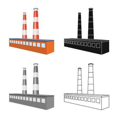 Vector illustration of plant and company. Set of plant and technology stock vector illustration.