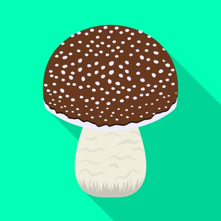 Isolated object of mushroom and amanita icon. Set of mushroom and poisonous stock symbol for web.