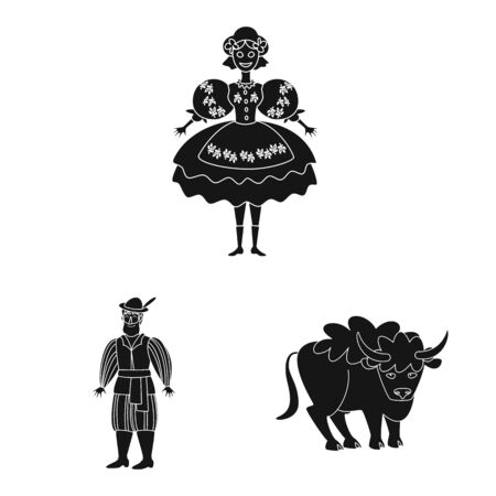 Isolated object of heritage and landmarks icon. Set of heritage and travel vector icon for stock.