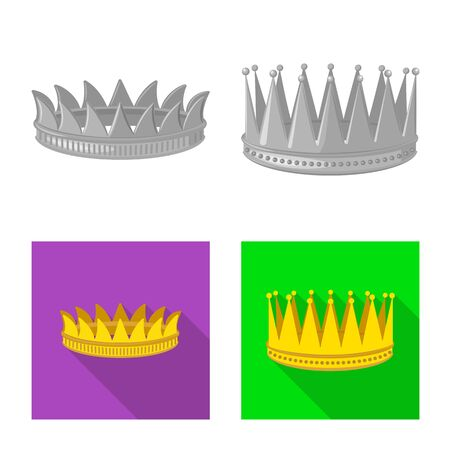 Isolated object of medieval and nobility symbol. Collection of medieval and monarchy stock symbol for web.