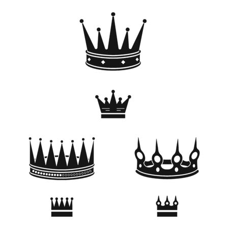 Vector illustration of king and majestic icon. Collection of king and gold stock symbol for web.