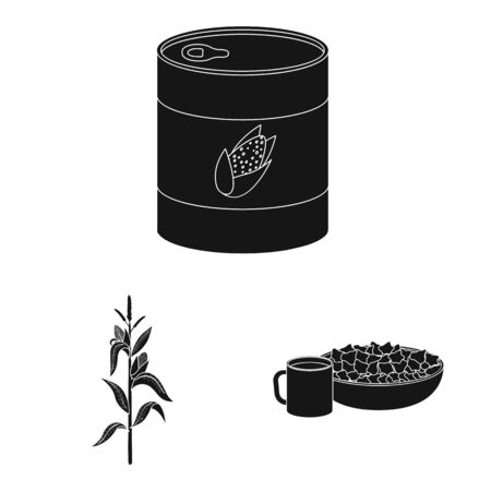 Isolated object of organic and vegetarian icon. Collection of organic and food vector icon for stock. Banque d'images - 130017378