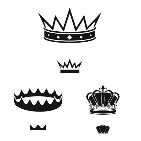 Isolated object of king and majestic symbol. Collection of king and gold vector icon for stock. Stok Fotoğraf - 130017381