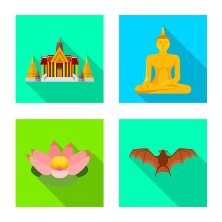 Vector design of journey and exotic  . Collection of journey and national stock symbol for web.