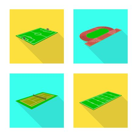 Vector design of playground and sport icon. Set of playground and scene stock symbol for web.  イラスト・ベクター素材