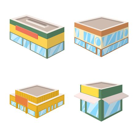 Vector illustration of and building icon. Collection of and business stock vector illustration.