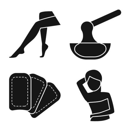 Isolated object of shaving and hygiene symbol. Set of shaving and skin stock vector illustration.