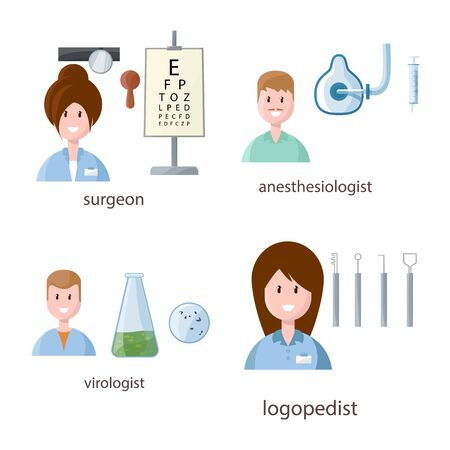 Vector illustration of hospital and healthcare symbol. Set of hospital and health stock symbol for web. Illustration