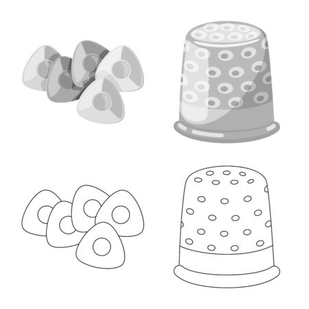 Isolated object of craft and handcraft icon. Set of craft and industry vector icon for stock. Çizim
