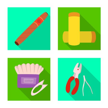 Vector design of technology and taste icon. Set of technology and trendy stock vector illustration.
