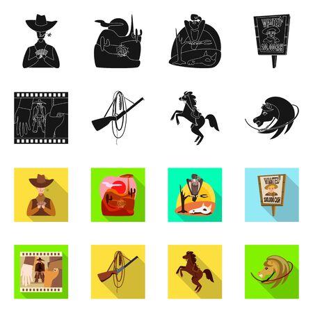 Diseño vectorial de texas e histor Conjunto de símbolo de stock de texas y cultura para web.