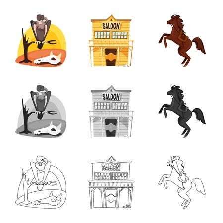 Vector design of texas and history icon. Set of texas and culture stock vector illustration.