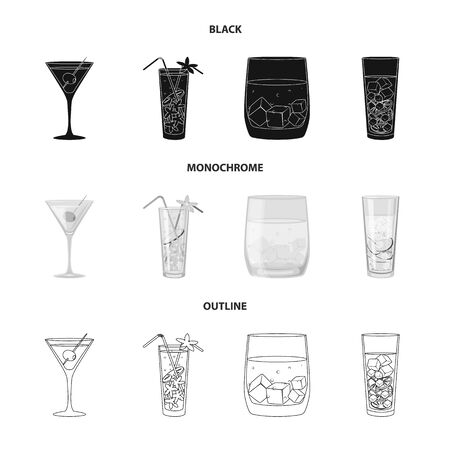 Isolated object of liquor and restaurant   Set of liquor and ingredient stock symbol for web. Stok Fotoğraf - 130017814