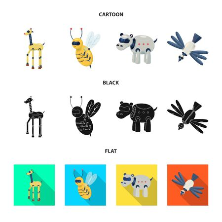 Vector design of toy and science  . Set of toy and toy vector icon for stock. Foto de archivo - 130014823