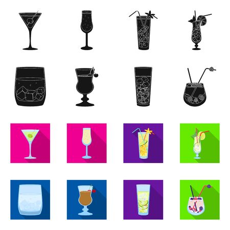 Vector design of liquor and restaurant  Collection of liquor and ingredient vector icon for stock. Stok Fotoğraf - 130014838
