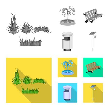 Vector illustration of urban and street . Collection of urban and relaxation stock vector illustration.
