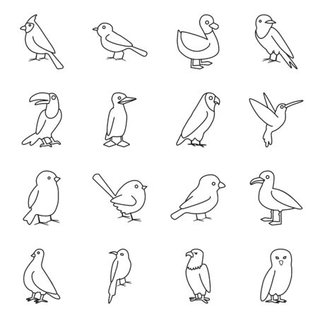 Vector design of animal and wild sign. Collection of animal and plumage vector icon for stock. Иллюстрация
