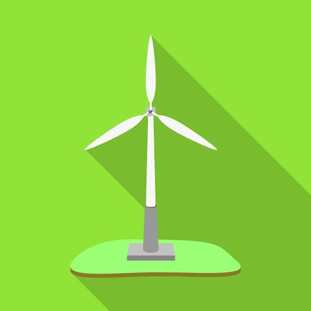 Isolated object of windmill and wind icon. Set of windmill and power vector icon for stock. Archivio Fotografico - 130029836