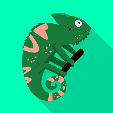 Isolated object of green and lizard icon. Set of green and quirky stock symbol for web.