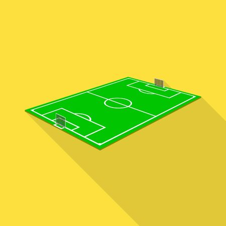 Isolated object of soccer and field symbol. Collection of soccer and turf stock vector illustration.
