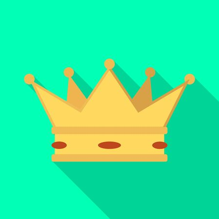 Isolated object of crown and king icon. Collection of crown and gold stock symbol for web.  イラスト・ベクター素材