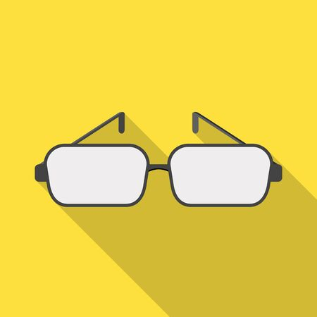 Isolated object of glasses and frame sign. Collection of glasses and lens stock symbol for web.
