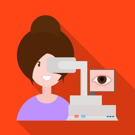 Vector illustration of equipment and test icon. Collection of equipment and cataract vector icon for stock. Фото со стока - 130018757