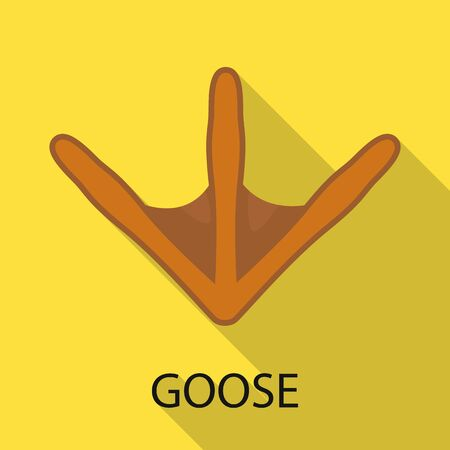 Vector illustration of goose and track sign. Collection of goose and nature vector icon for stock.
