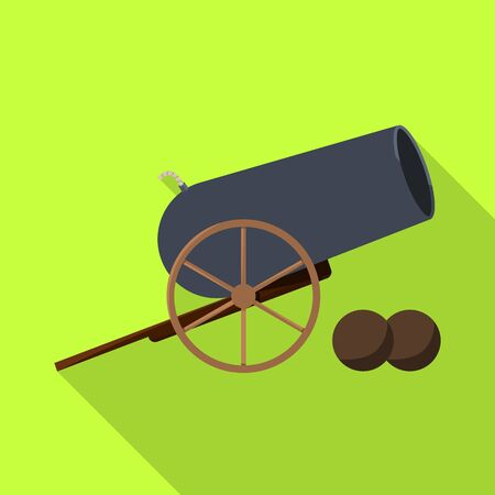 Vector design of cannon and war icon. Collection of cannon and gun stock vector illustration.  イラスト・ベクター素材