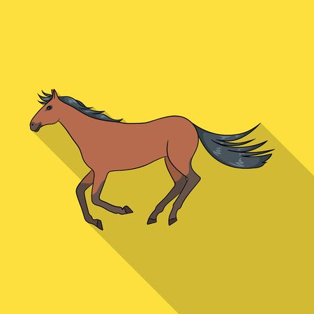 Vector illustration of horse and hippodrome  . Collection of horse and jumping stock vector illustration.