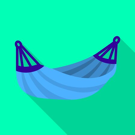 Vector design of hammock and swing icon. Set of hammock and outdoor stock symbol for web.