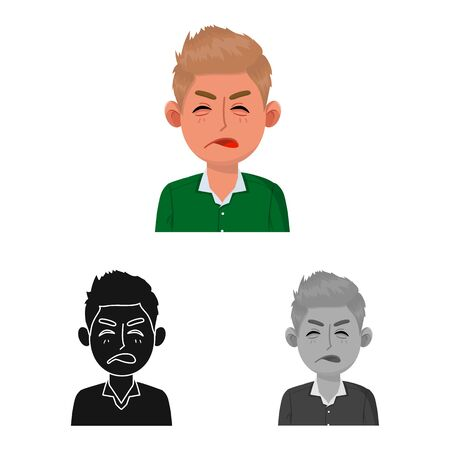 Vector design of guy and contempt icon. Collection of guy and surprised stock symbol for web. Illustration
