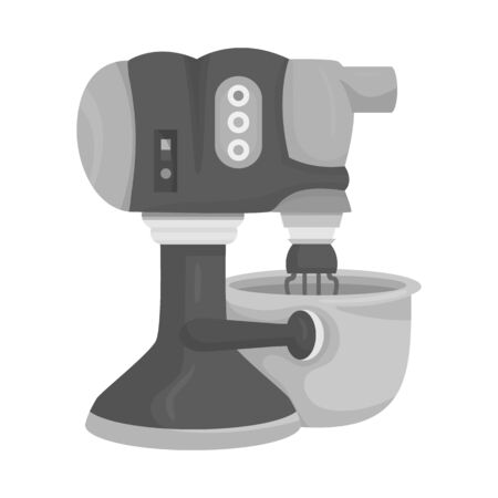 Vector illustration of machine and mixer icon. Collection of machine and kitchen stock vector illustration.