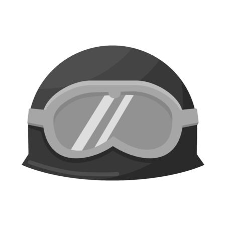 Isolated object of hat and military symbol. Collection of hat and defense stock vector illustration.